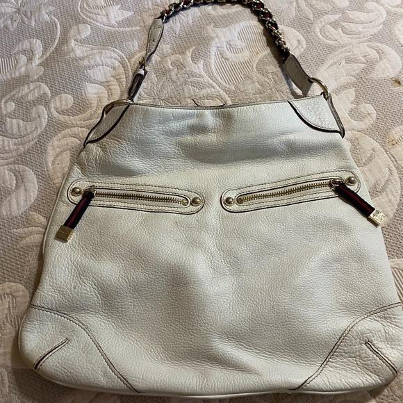 GUCCI Handbags - GUCCI CAPRI WHITE HOBO LEATHER BAG